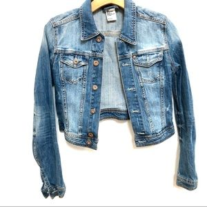 H&M denim long sleeves light wash jacket Sz 4